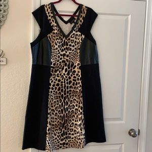A leopard print dress